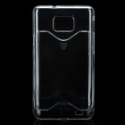 Stylish Protective Plastic Back Case with Card Holder for Samsung Galaxy S2 i9100 - Transparent