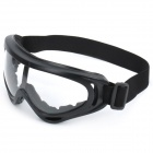 Safety Goggles Glasses with Elastic Strap - Black