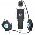 Car Cigarette Powered USB Adapter/Charger with Universal Cellphone Charging Adapter Set (12~24V)