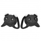 Panda Style 3-Mode Red Light Bike Safety Light (2 x CR2032/Pair)