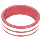D09 Aluminum Alloy Bicycle CNC Front Fork Washer - Red + White (28.6mm)