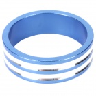 D09 Aluminum Alloy Bicycle CNC Front Fork Washer - Blue + White (28.6mm)