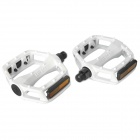 LP-861 Replacement Aluminum Alloy Bicycle Pedal - White (Pair)