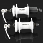 QUANDO Sealed Bearing Hubs w/ Quick Release Skewers for Mountain Bike - White (KT-MD4F / MD7R)