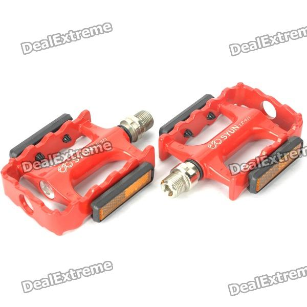 LP-921 Replacement Aluminum Alloy Bicycle Pedal - Red (Pair) 10pcs m3 aluminum column 6 10 15 25mm 20mm 28mm 30mm 35mm round aluminum alloy pillar standoff spacer fastener anti slip for rc