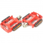 LP-921 Replacement Aluminum Alloy Bicycle Pedal - Red (Pair)