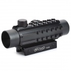 1 * 30 Reflex mira láser Rifle Scope (Rojo + Verde Configurable láser)
