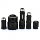 TrustFire TR-3T6 XM-L T6 5-Mode 2500LM Memory 3-LED White Flashlight - Black (2 x 18650 / 3 x 18650)