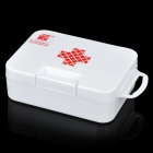 PP Plastic Red Cross Pattern Medicine Pill Storage Box Case - White (Size-S)