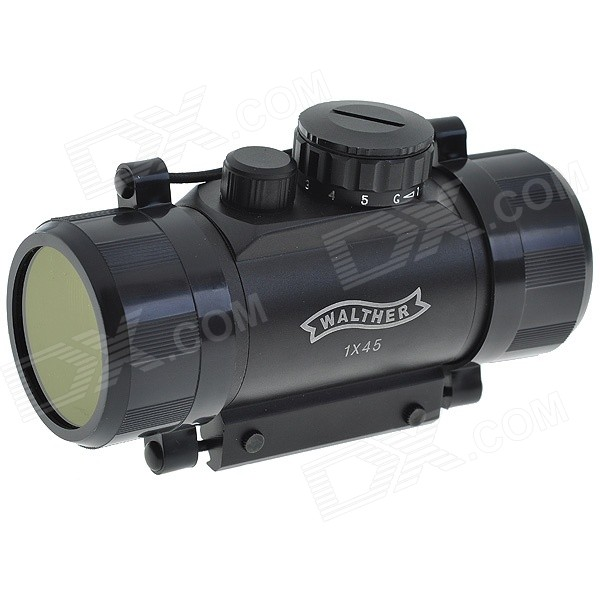 1*45 Reflex Configurable Red + Green Laser Sight Rifle Scope - BlackGun Scopes &amp; Sights<br>Form  ColorBlackLaser ColorRed,GreenPacking List<br>