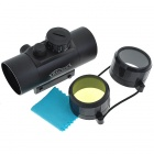 1*45 Reflex Configurable Red + Green Laser Sight Rifle Scope - Black