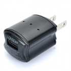 LONGDEA USB AC Charger Power Adapter for Cell Phone + More - Black (AC 100~240V / 2-Flat-Pin Plug)