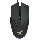 SUNSONNY USB 2.0 Wired 600 / 1200 / 1800 DPI Optical Mouse - Black