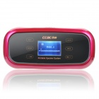 "CCAC Q7 1.3 ""LCD-MP3-Player-Lautsprecher w / FM / TF / 3,5 mm Audio Jack - Deep Pink"
