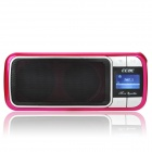 "CCAC A5 1.0 ""LCD-MP3-Player-Lautsprecher w / FM / TF Slot / 3,5 mm Audio Jack - Deep Pink"