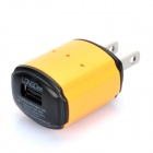 LONGDEA USB AC Charger Power Adapter for Cell Phone + More - Orange (AC 100~240V / 2-Flat-Pin Plug)