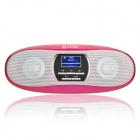 "CCAC Q5 1.1 ""LCD-MP3-Player-Lautsprecher w / FM / TF / 3,5 mm Audio Jack - Pink"