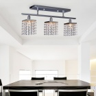 Modern Crystal Pendant Light with 3 Lights