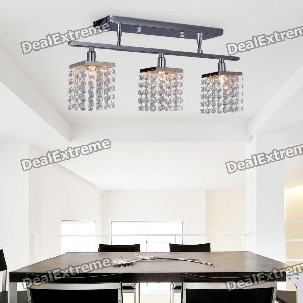цены  Modern Crystal Pendant Light with 3 Lights