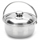 Acero inoxidable cocina Stock Pot Set w / Lids (4 Pice Pack)