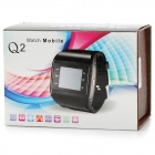 "Q2 GSM Wrist Watch Phone w/1.3"" Resistive Screen, Quad-band, Camera and FM - White"