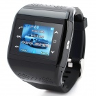 "Q2 GSM Wrist Watch Phone w/1.3"" Resistive Screen, Quad-band, Camera and FM - Black"