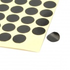 8mm Round Style Paper Self Adhesive Label Stickers - Black (260 x 15 Pack)