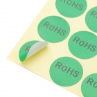 18mm Round Lead Free Packing RoHS Label Stickers (15 x 50 Pack)