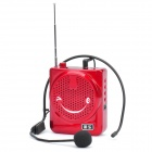 "Daile Multi-Function Megaphone Voice Amplifier Music Speaker w/ FM/TF/Microphone - Red (1.5"" LED)"