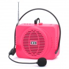 Daile Multi-Function Megaphone Voice Amplifier MP3 Music Speaker w/ FM / SD / Microphone - Deep Pink