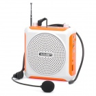 "Daile 1.5"" LED Multi-Function Megaphone Voice Amplifier Music Speaker w/ FM/TF/Microphone - Orange"
