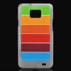 Designer's Rainbow Style Protective Back Case w/ Screen Protector / Cleaning Cloth for Samsung i9100