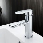 Chrome Finish Copper Single-Handle Kitchen Faucet Water Tap