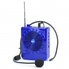 "Daile Multi-Function Megaphone Voice Amplifier Music Speaker w/ FM/TF/Microphone - Blue (1.5"" LED)"