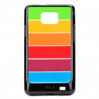 Designer's Protective PC Rainbow Case for Samsung i9100 - Colorful + Black
