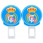 Football Club Logo Safety Seat Belt Buckle - FC Real Madrid (Pair)