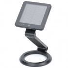 Solar Powered / USB Rechargeable Folding 1W 6000-7000K White 1-LED Desk Lamp Table Light - Black