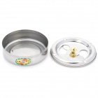 Stainless Steel Rotatable Cover Cigarette Ashtray