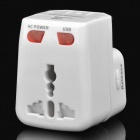 Universal Multi-Function USB Adapter / Plug Converter for World Travel - White