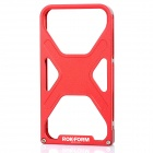 Xmen Pattern Metal Frame Protective Case for iPhone 4/4S - Red