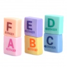 Letter Pattern Erasers (6-Piece Pack)