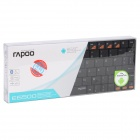 Rapoo Bluetooth V3.0 Rechargeable 80-Key Keyboard for Android 3.0 Smartphone / Tablet PC - Black
