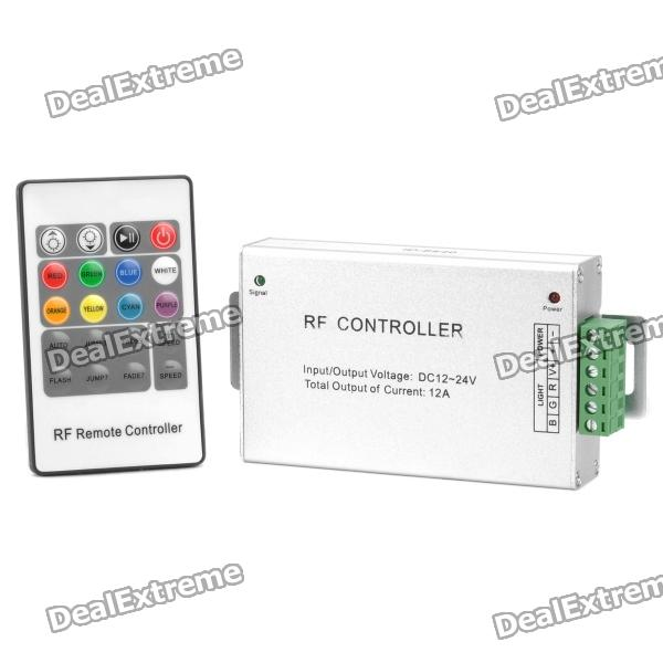 3-Channel RGB Control Box w/20-Key Remote Control for 5050-SMD LED Light Strip (DC 12V~24V / CR2025)