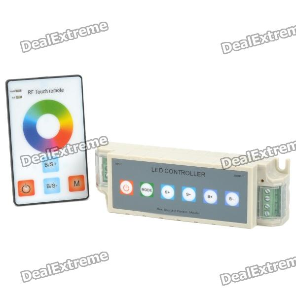 108W 3-Channel RGB Controller w/ RF Touch Remote Control for LED Light Strip - Grey (DC 12V) touch door release switch for electric access control dc 12v