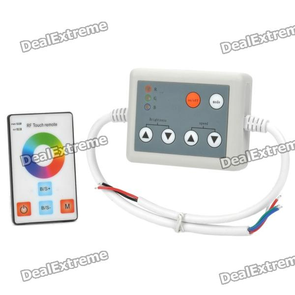 3-Channel RGB Controller w/ RF Touch Remote Control for LED Light Strip - Grey (DC 12V~24V)