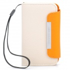 Protective PU Leather Flip-Open Case with Strap for Samsung i9220 - Beige