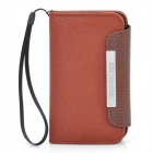 Protective PU Leather Flip-Open Case with Strap for Samsung i9220 - Coffee