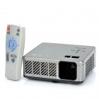 MOSKYE MSP-318 RGB LED DLP Pocket Projector w/ HDMI / VGA / USB / SD Card Slot - Black + Silver