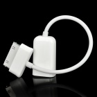 30-Pin to USB Female Data Charging Cable for Samsung Galaxy Tab 10.1 - White (12CM-Length)