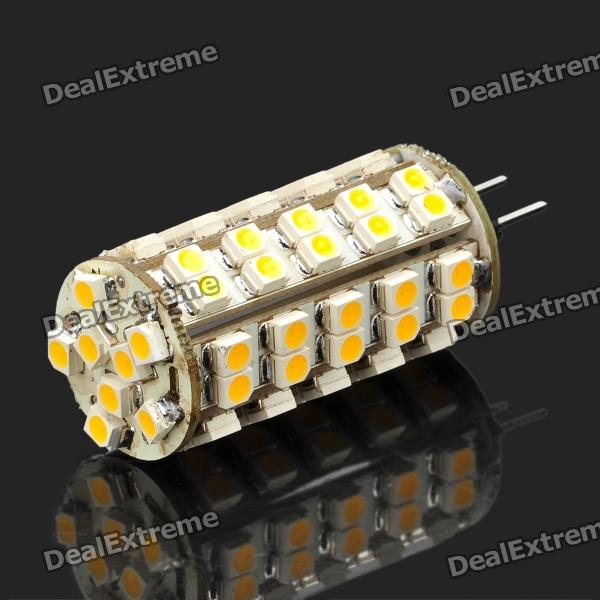 G4 4W 3500K 340-Lumen 68-3528 SMD LED Warm White Light Bulb (DC 12V) 3156 12w 600lm osram 4 smd 7060 led white light car bulb dc 12v